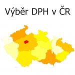 Výběr DPH v České republice dle krajů - vizualizace dat na mapě